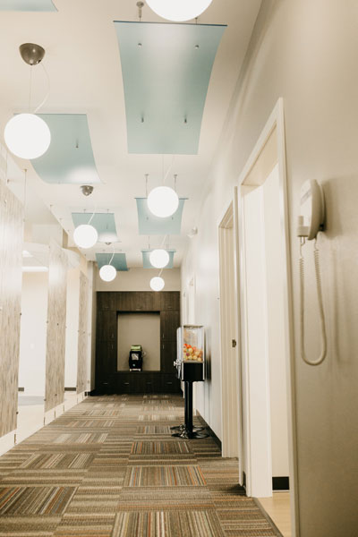 Exam rooms hallway | Children's Dental Centre, Sioux Center, IA